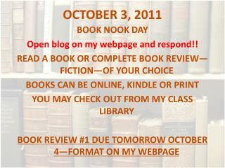 OCTOBER 3, 2011