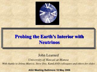 Probing the Earth's Interior with Neutrinos