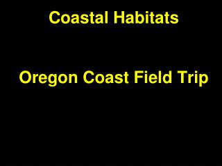 Coastal Habitats Oregon Coast Field Trip