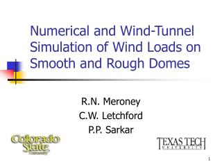 Numerical and Wind-Tunnel Simulation of Wind Loads on Smooth and Rough Domes