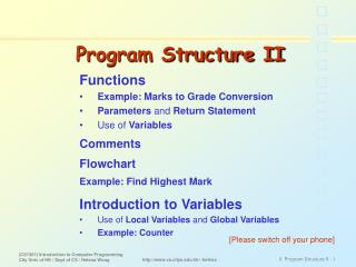 Program Structure II