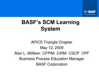 BASF's SCM Learning System