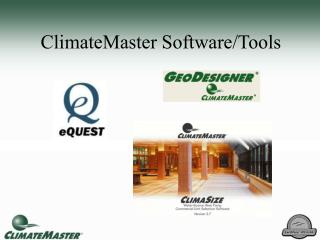 ClimateMaster Software/Tools