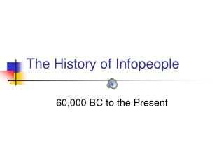 The History of Infopeople