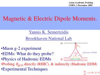 Magnetic & Electric Dipole Moments.