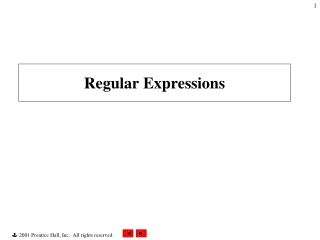 Perl 3: Regular Expressions