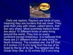 Owls by Gail Gibbons ppt