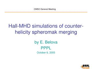 Hall-MHD simulations of counter-helicity spheromak merging