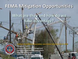 FEMA Mitigation Opportunities