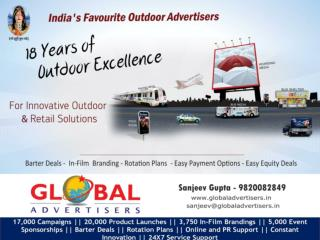 OOH Promotion through flyover panel for Electronics - Globa