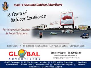 OOH Promotion through flyover panel for Garments  - Global A