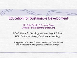 C-SAP: Centre for Sociology, Anthropology & Politics
