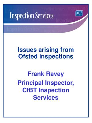 Issues arising from Ofsted inspections