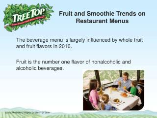 Fruit and Smoothie Trends on Restaurant Menus