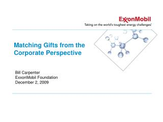 Matching Gifts from the Corporate Perspective