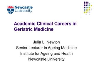 Academic Clinical Careers in Geriatric Medicine