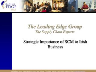 The Leading Edge Group The Supply Chain Experts