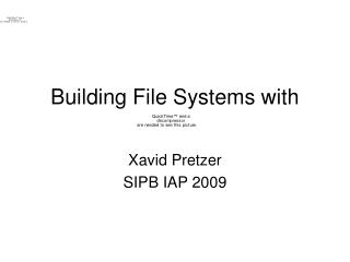 Building File Systems with