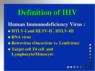 Definition of HIV