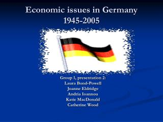 Economic issues in Germany  1945-2005