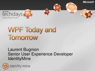 WPF Today and Tomorrow
