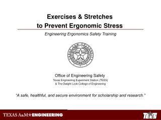 Engineering Ergonomics Safety Training