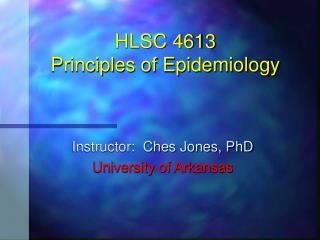 HLSC 4613 Principles of Epidemiology