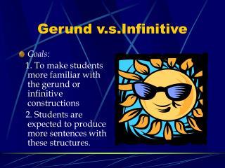 Gerund v.s.Infinitive