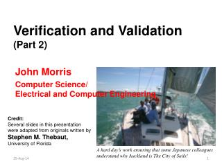 Verification and Validation (Part 2)