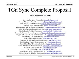 TGn Sync Complete Proposal