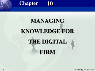 MANAGING KNOWLEDGE FOR THE DIGITAL FIRM