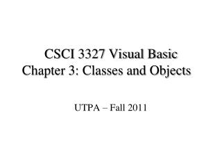 UTPA – Fall 2011
