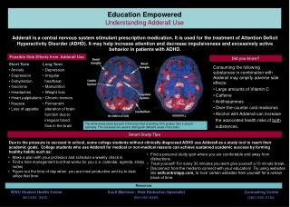 Education Empowered Understanding Adderall Use