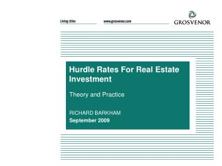 Hurdle Rates For Real Estate Investment