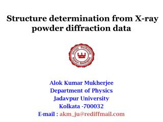 Structure determination from X-ray powder diffraction data