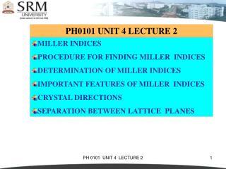 PH0101 UNIT 4 LECTURE 2