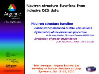 Neutron structure functions from inclusive DIS data