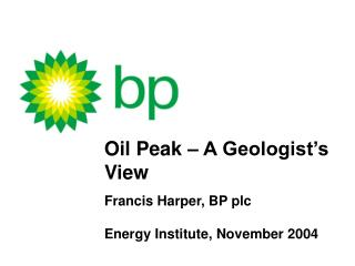 Oil Peak   A Geologist s View