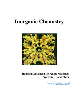 Inorganic Chemistry Hanyang Advanced Inorganic Materials