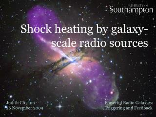 Shock heating by galaxy-scale radio sources
