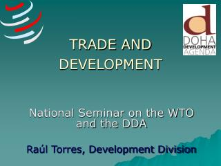 TRADE AND DEVELOPMENT