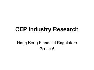 CEP Industry Research