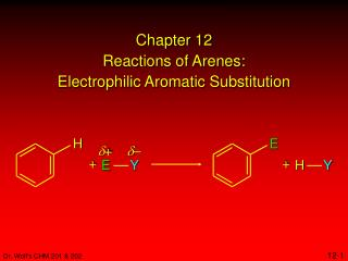 Chapter 12 Reactions of Arenes: Electrophilic Aromatic Substitution