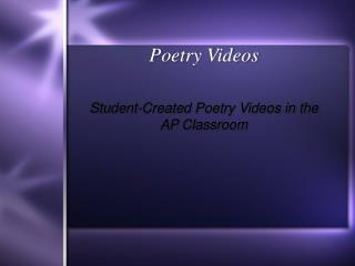 Poetry Videos