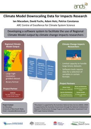 Climate Model Downscaling Data for Impacts Research