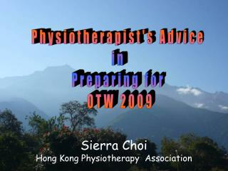 Sierra Choi Hong Kong Physiotherapy  Association