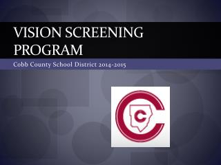 Vision Screening Program