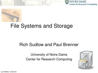 File Systems and Storage