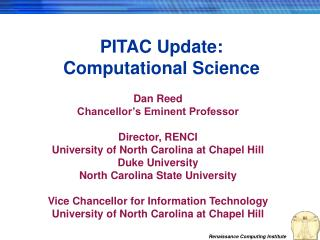 PITAC Update: Computational Science