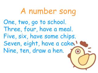 A number song
